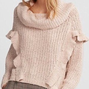 Express: Oversized Ruffle Cowl Neck Sweater